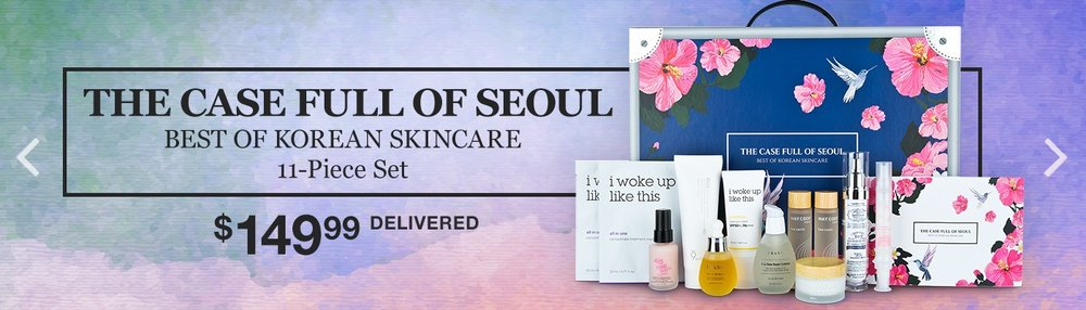 Costco ~ (No membership needed) ~ The Case Full Of Seoul, Best Of Korean Skincare, 11-piece Set  ~ $149.99 + Free shipping  Features:  11-Piece Set  For All Skin Types  All Products Work Together  For More Healthy, Vibrant Skin