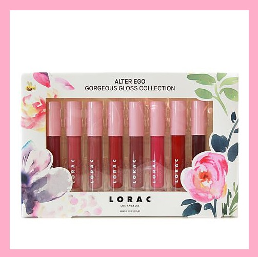 HSN ~ LORAC Gorgeous Gloss 8-piece Lip Gloss Set   Retail value: $136.00  HSN price:$48.00  Special price: $38.00  + Free shipping   What It Is:   Instantly transform your look with LORAC Alter Ego Lip Gloss. These sexy and playful lip glosses coat your lips in highly-pigmented, glossy color with a soft vanilla scent.   What You Get:   .13 oz. Alter Ego Lip Gloss - Icon (cherry red)  .13 oz. Alter Ego Lip Gloss - Seductress (rose)  .13 oz. Alter Ego Lip Gloss - Beauty Queen (rose pink)  .13 oz. Alter Ego Lip Gloss - Duchess (rosy nude)  .13 oz. Alter Ego Lip Gloss - CEO (dusty rose)  .13 oz. Alter Ego Lip Gloss - Muse (berry)  .13 oz. Alter Ego Lip Gloss - Dominatrix (deep burgundy)  .13 oz. Alter Ego Lip Gloss - Coquette (hot pink)   What It Does:   Formulated to moisturize, soften and add a splash of glossy color  Highly pigmented  Non-sticky, mirror-like glassy finish  Contains acai berry, pomegranate, grape seed extract, Vitamin E, and Vitamin C  Made in Taiwan