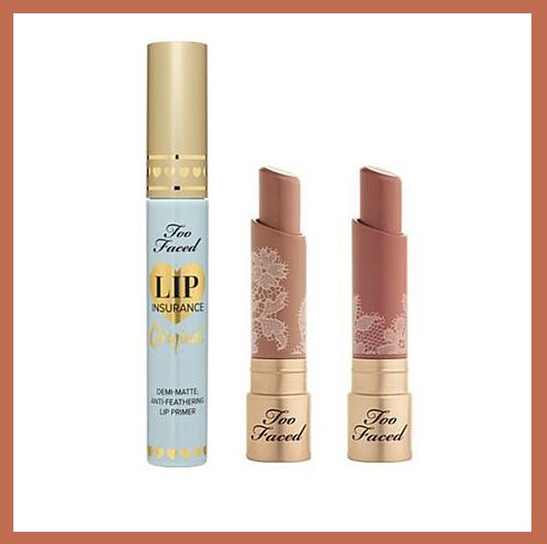 HSN ~  Too Faced Lasting Natural Nudes Lip Set  HSN Price: $52 + Free shipping    What It Is: 3 full-sized items ($64 value)    Richly pigmented, creamy, natural nude lipsticks and a primer that locks down lip color to ensure it won't fade or feather.    What You Get:   .12 oz. Natural Nudes Intense Color Coconut Butter Lipstick - Skinny Dippin' (honey beige) $22 value  .12 oz. Natural Nudes Intense Color Coconut Butter Lipstick - Strip Search (soft warm pink nude) $22 value  .15 oz. Lip Insurance Lip Primer ($20 value)   What It Does:   Natural Nudes Intense Color Coconut Butter Lipsticks  Highly pigmented for good color payoff  Balmy, hydrating texture  10 modern neutral shades  8-hour long-wearing color  Bold nude colors infused with coconut butter complex; lipstick helps keep lips soft and moisturized  Lip Insurance Lip Primer  Weightless formula creates a creamy, velvety finish that smooths and perfectly preps lips for lip color  Locks down lip color to ensure it won't fade or feather  Quick-drying formula helps lock down color fast  Colorless application disappears into any skin tone  Free of parabens, sulfates and dyes   How to Use:   Exfoliate lips prior to applying primer and color for the smoothest application.  Apply primer to clean, dry lips prior to lipstick.  For more intense color, swipe lipstick over lips 2-3 times.  For a sheer wash, apply to bottom lip and press lips together.  For a stained effect, apply to lips, and blot with a tissue.  Made in USA
