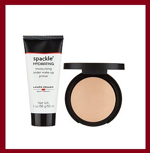 QVC ~  Laura Geller Double Take Baked Foundation with 2 oz Spackle  (6 shades)  If Sold Separately: $68.00  QVC PRICE: $44.00  FEATURED PRICE: $39.96  + S&H: $3.00  Includes:  0.3-oz Double Take Baked Versatile Powder Foundation  2-fl oz Spackle Hydrating Treatment Makeup Primer  Dual-sided sponge  Foundation/sponge imported