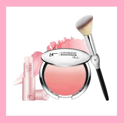 QVC ~   IT Cosmetics Your Je Ne Sais Quoi of Perfect Skin 3-Piece Kit    $82.50 Value  QVC PRICE: $44.00  EVENT PRICE: $36.64  + S&H: $3.00   Includes:   0.11-oz Je Ne Sais Quoi Lip Treatment in Your Perfect Pink  0.38-oz Ombre Blush in Je Ne Sais Quoi  French Boutique Blush Brush