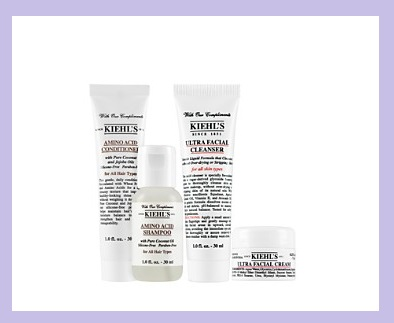 Bloomingdale's ~  Kiehl's GWP  ~ Free 4-Piece Gift with any $85 Kiehl's Purchase ~ Free shipping with $50 order or becoame a Loyallist for free shipping on any order (It's free to  join !)   4-Piece Gift includes:  Deluxe samples of Ultra Facial Cleanser, Ultra Facial Cream, Amino Acid Shampoo, and Amino Acid Conditioner