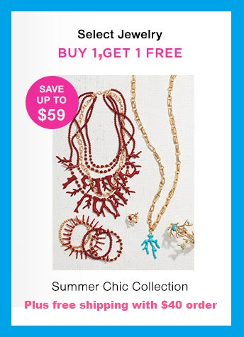 Avon ~  Select Jewelry - Buy 1, Get 1 Free  $12.99 - $39.99  (Mix or match, of equal or lesser value)  + Free shipping with $40 order
