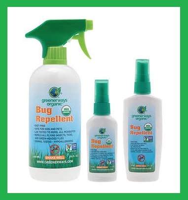 Costco ~  Greenerways Organic Bug Repellent  Reg: $17.99 Sale: $12.99 (22 fl oz., 3-piece ~ Ends 6/17 ~ Limit 2 per member) + Free shipping (It's $17.99 at  Walmart )  Features:  100% USDA Certified Organic  100% Deet-Free and chemical-free  Hypoallergenic  Safe for kids and pets