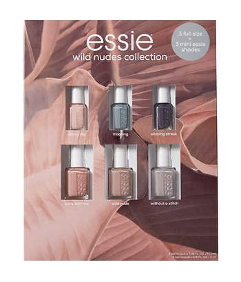 Costco ~  Essie Wild Nudes Nail Polish Collection  3 Full-Size, 3 Minis $25.99 + Free shipping    Features:   3 Full-Size Polishes  3 Mini Polishes  On-trend color with flawless coverage and outstanding durability.