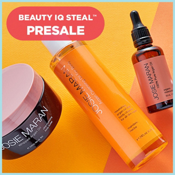 QVC ~  Josie Maran Argan Oil Luxury Body Cleansing & Treatment Ki t  If Sold Separately: $148.33  QVC PRICE: $77.00  BEAUTY IQ STEAL™: $62.86  + S&H: $3.00