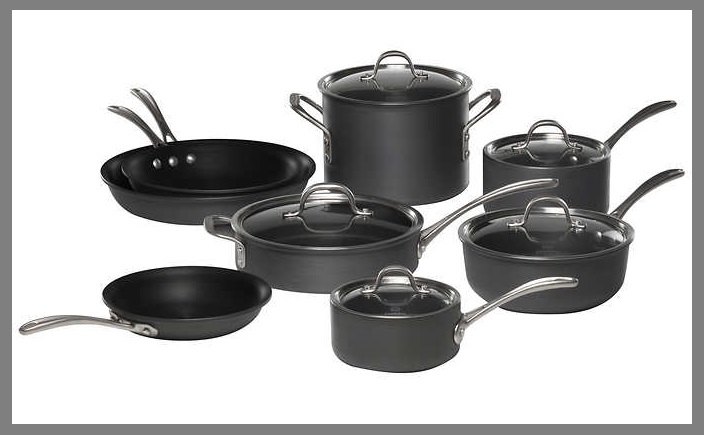 "Costco ~  Calphalon 13-piece Commercial Cookware Set   Reg: $179.99  Now: $129.99 (Ends 7/29)  + Free shipping   13-piece Set Includes:    8"" Omelette Pan  10"" Omelette Pan  12"" Omelette Pan  1.5 Qt. Sauce Pan with Cover  2.5 Qt. Sauce Pan with Cover  3 Qt. Chef's Pan with Cover  3 Qt. Saute Pan with Cover  6 Qt. Stock Pot with Cover   Features:   Durable  Hard Anodized Aluminum  Nonstick Interior"