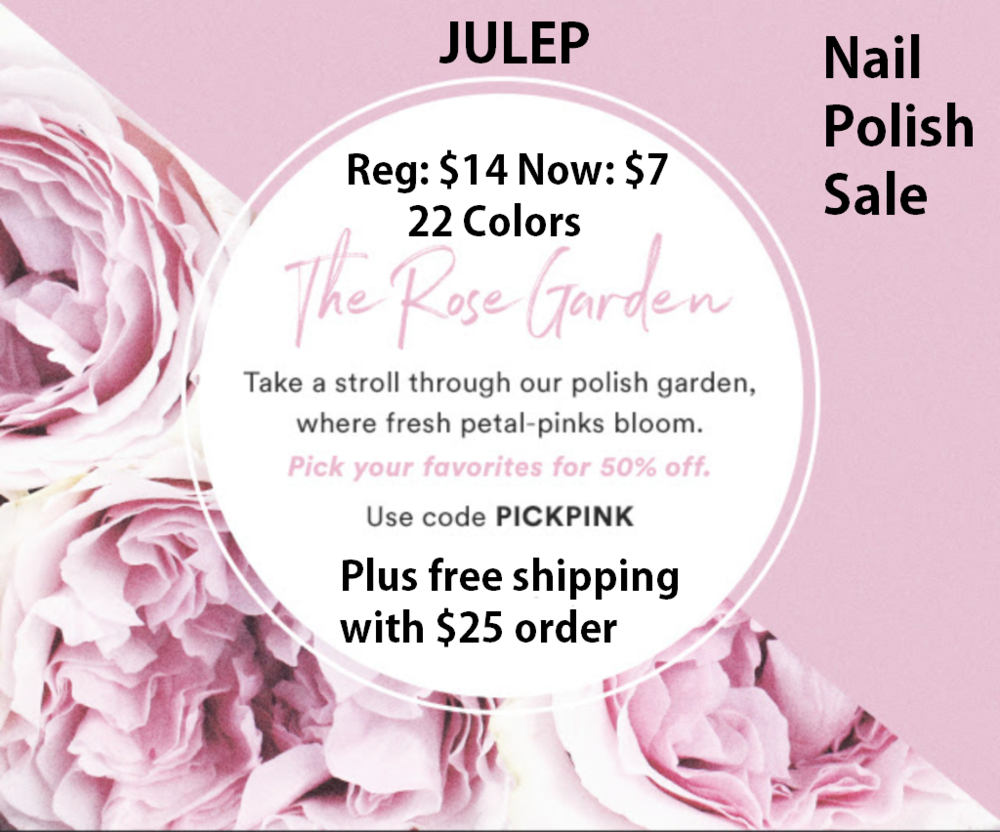 Julep ~  50% Off The Rose Garden Nail Polish Collection  Reg: $14 Now: $7 (22 Colors) + Free shipping with $25 order