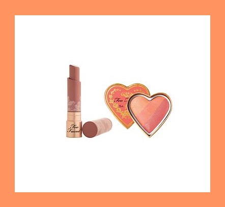 HSN ~  Too Faced Sweet and Nude Lip & Cheek Set   Retail value: $52.00  HSN price: $42.00  Sale:$30.00  + FREE SHIPPING   What It Is:   The modern neutral shade of this intensely-hydrating coconut butter-infused lipstick pairs perfectly with the multidimensional, universally-flattering peach blush shade for a sophisticated and pretty pop of color on cheeks and lips.    What You Get:   .12 oz. Natural Nudes Intense Color Coconut Butter Lipstick in Birthday Suit (rosy beige shade)   .19 oz. Sweethearts Perfect Flush Blush in Sparkling Bellini