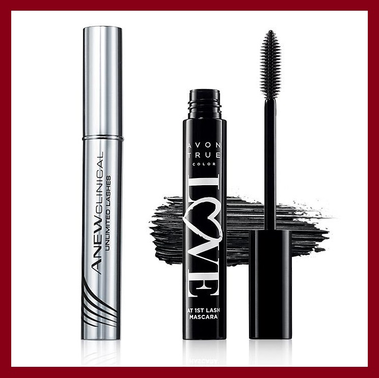 Avon ~  Unlimited Lashes Duo  ($72 value) $45 + Free shipping with $40 order   Anew Clinical Unlimited Lashes Lash & Brow Activating Serum:   Get lush lashes that are all yours with Anew Clinical Unlimited Lashes Lash & Brow Activating Serum*. Our unique serum, with a peptide blend and botanicals, is designed to dramatically enhance the look of your lashes. In just weeks, lashes look longer, fuller and healthier. .10 fl. oz. • 84% of women agreed lashes look longer after 8 weeks of use** • 84% of women agreed lashes look fuller after 8 weeks of use** • 81% of women agreed lashes are visibly healthier after 8 weeks of use**    BENEFITS  • Begin seeing results in 4 weeks • Extra-thin brush allows for precise application along the upper lash line and brows • No parabens, sulfates or phthalates • Hypoallergenic    TO USE  On clean, dry skin, apply once daily at nighttime by sweeping a thin layer of serum along the lash line of upper eyelids only, like a liquid eye liner. One dip into the vial is the proper amount of serum for both upper eyelids. Do not double dip. Let dry. Do not rub eyes. May also be used on eyebrows.  Made in USA *Anew Clinical Unlimited Lashes is not intended to reverse or reduce hair loss or grow hair. **Based on an 8-week consumer-perception study.    Avon True Color Love at 1st Lash Mascara:   Heart-shaped, lash-hugging fibers lock onto lashes and intertwine to provide instant length and weightless volume in just one application. The Love Complex™ Formula helps to both strengthen and condition your lashes for a flawless flutter. .3 fl. oz.    BENEFITS  • Paraben-free and sulfate-free • Vitamins A, C and E condition lashes • Olive oil and lycopene strengthen lashes • Safe for contact-lens wearers • Ophthalmologist-tested      TO USE      Apply mascara from root to tip, wiggling the wand as you move toward the end of your lashes to achieve maximum volume, length and curl. Build additional volume by applying as many coats as desired.  Imported