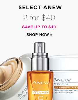 Avon ~  Select Anew Skin Care  - 2 for $40 (Save up to $40) + Free shipping with $40 order