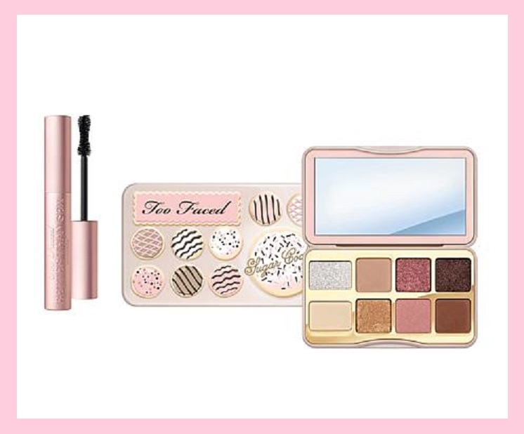 HSN ~  Too Faced Sugar Cookie Eyeshadow Palette & Better Than Sex Mascara   Retail value: $52.00  HSN price: $45.00  Special price: $32.00  + Free shipping   What It Is:   Purse-sized palette of 8 cookie-scented eyeshadows ranging from cool cocoa browns to bright sugary sprinkles, plus the iconic black mascara to top off your look.   What You Get: ($52 value)   .26 oz. Sugar Cookie Eyeshadow Palette (It's $26 at  Too Faced )  .27 fl. oz. Better Than Sex Mascara (It's $24 at  Too Faced  ~ this is full-size too)