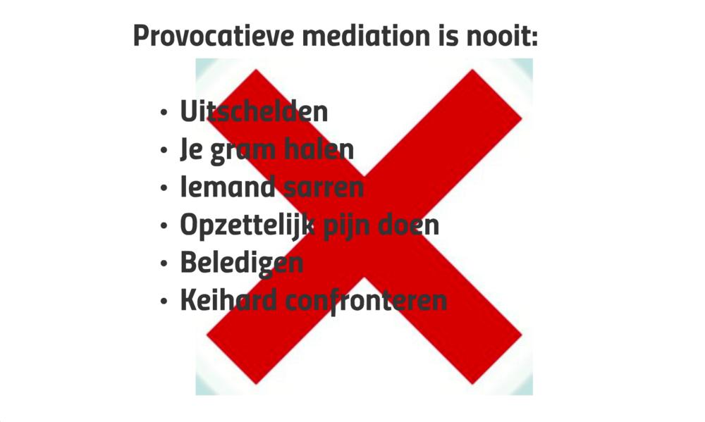 TRAINING PROVOCATIEVE TECHNIEKEN - ADELKA VENDL