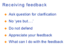 Receiving feedback