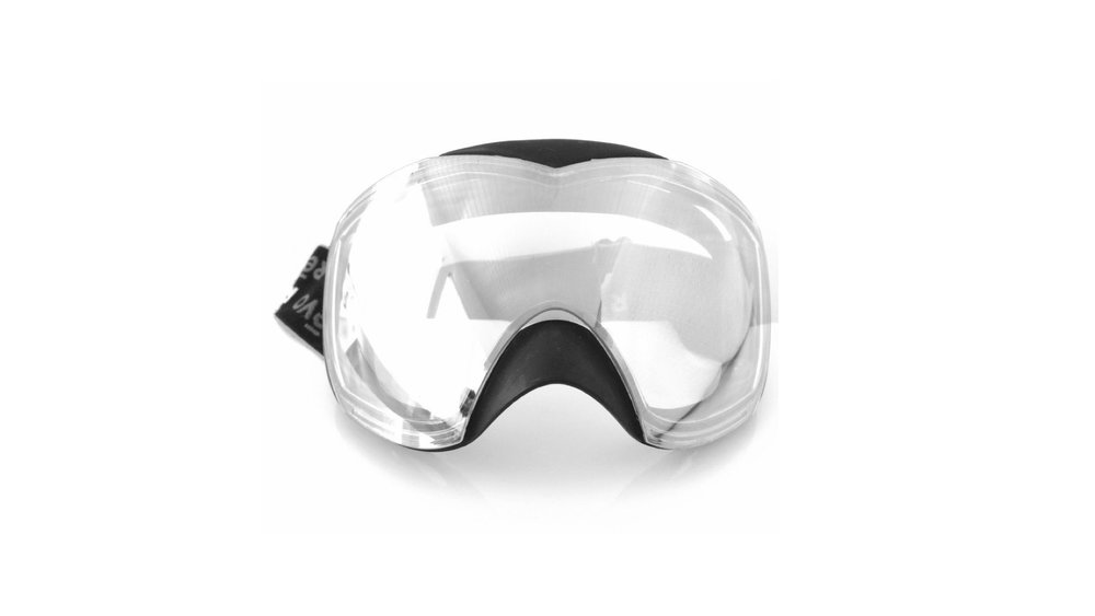 Revo Goggles Revo's first snow sport goggle. I created a unique design with maximum lens wrap and minimum frame appearance to set this high-end goggle design apart from the competition and to showcase the premium interchangable lens options.