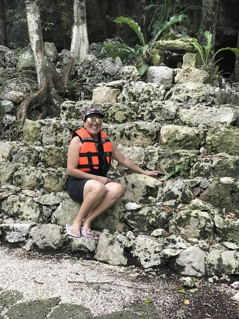 ruins at the cenotes