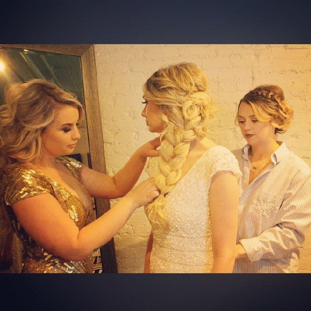 Can we talk about that time our Lead Bridal Stylist Victoria turned our boss into a real life Elsa.. talk about a dream come true. 👰🏼✨ • • Are you a 2018 bride? Set up a trial with our amazing Bridal Team to talk about making your Bridal hair and makeup dreams come true 😍✨