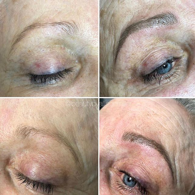 These microbladed brows by Allison. 🙌🏼 call or book online for consult ✨
