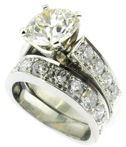 CUSTOM DESIGN DIAMOND ENGAGEMENT SET