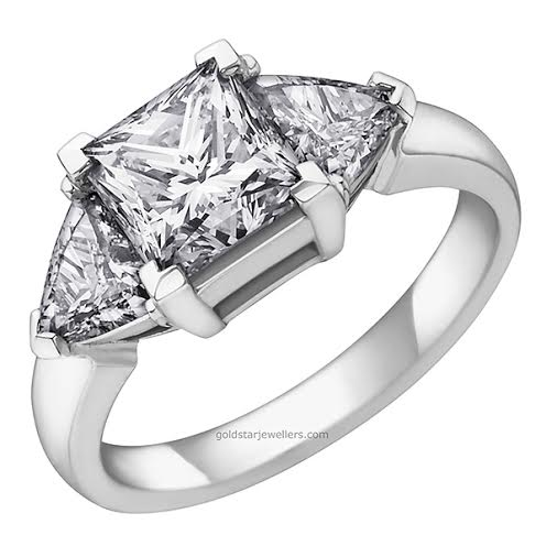 PRINCESS/TRILLIANT DIAMOND RING