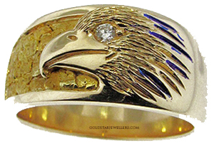 Nugget Eagle Ring