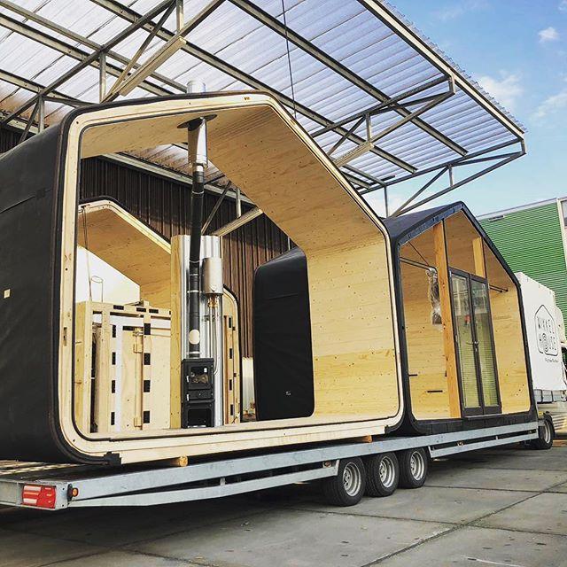 Deze nieuwe Cabiner staat klaar om naar Drenthe te gaan! • • • #cabin #tinyhouse #duurzaam #zelfvoorzienend #offgrid #Drenthe #avontuur #hiking