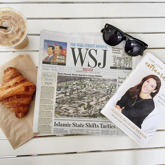 Starting the week off right- still so thrilled about our #2 @wsj debut this weekend! Thanks for all the support! #helloextraordinary