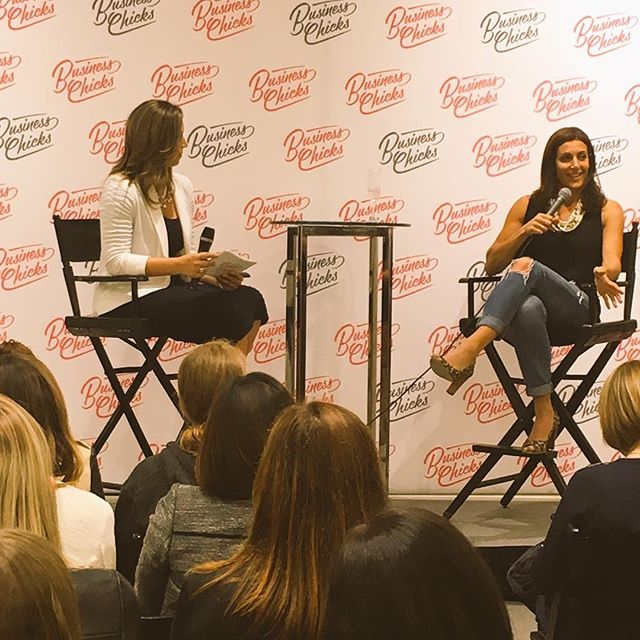 Speaking candidly tonight about #helloextraordinary, mommy guilt and the early days of Stella & Dot at the @businesschicks_usa event.