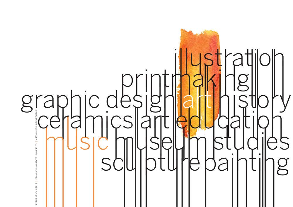 Art + Music Department, Framingham State University / / Promotional poster / / How award winner, BoNE show award winner