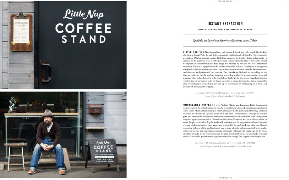kinfolk magazine lou mora tokyo japan little nap coffee