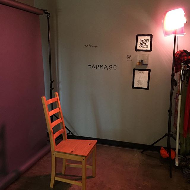 Come check out #APMasc and take a photo in the photo booth! It's up for 5 ½ weeks at #villageatedgouldplaza #lalgbtcenter