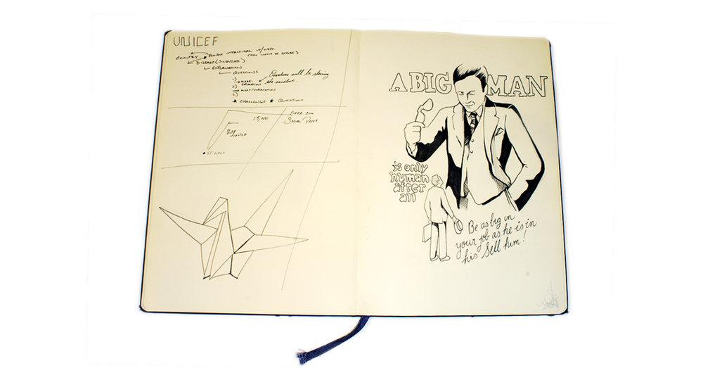 Original sketchbook drawing