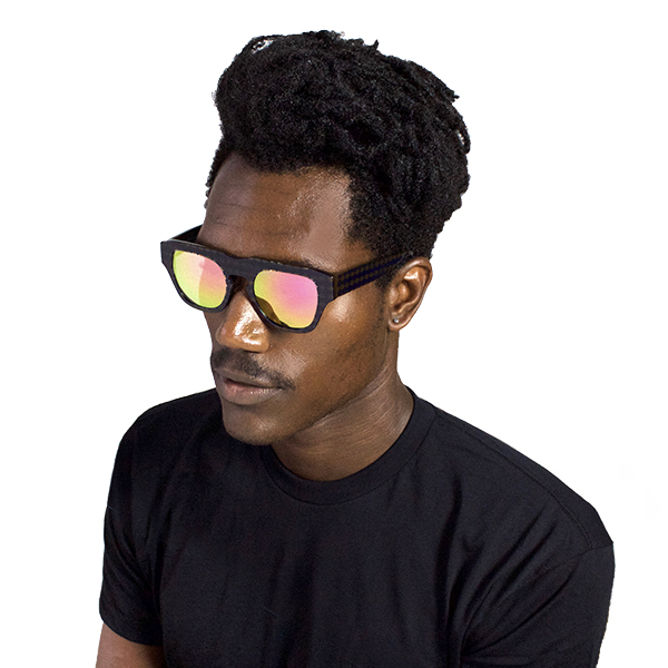The Dagger Sunglasses in Micro Dotted Black