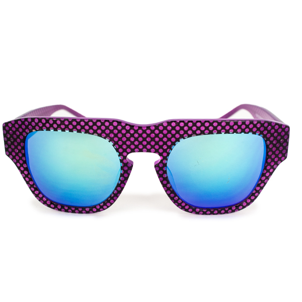 The Dagger Sunglasses in Micro Dotted Pink
