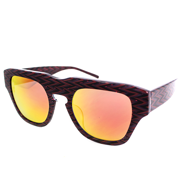 The Dagger Sunglasses in Zig Zag Red