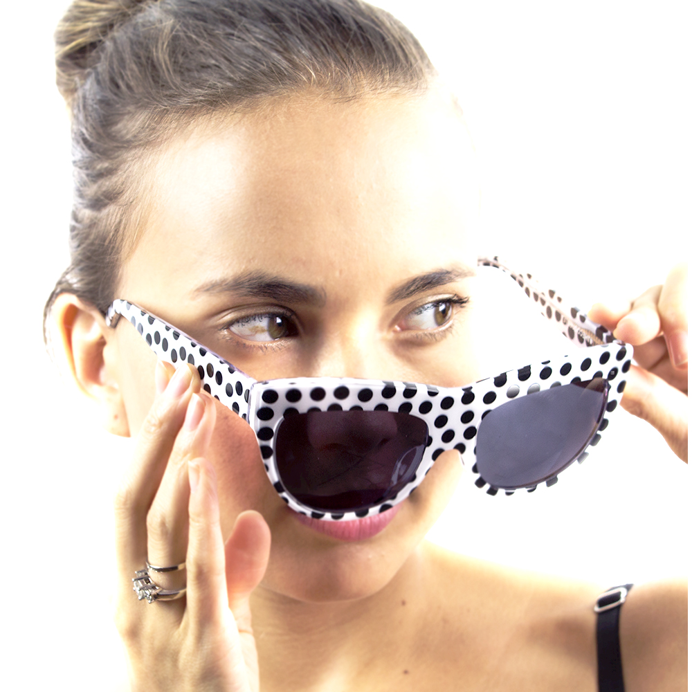 THE COQUETTE - Flirtatious and fun, The Coquette is my version of the 1960s era cat eye sunglasses. Meow!