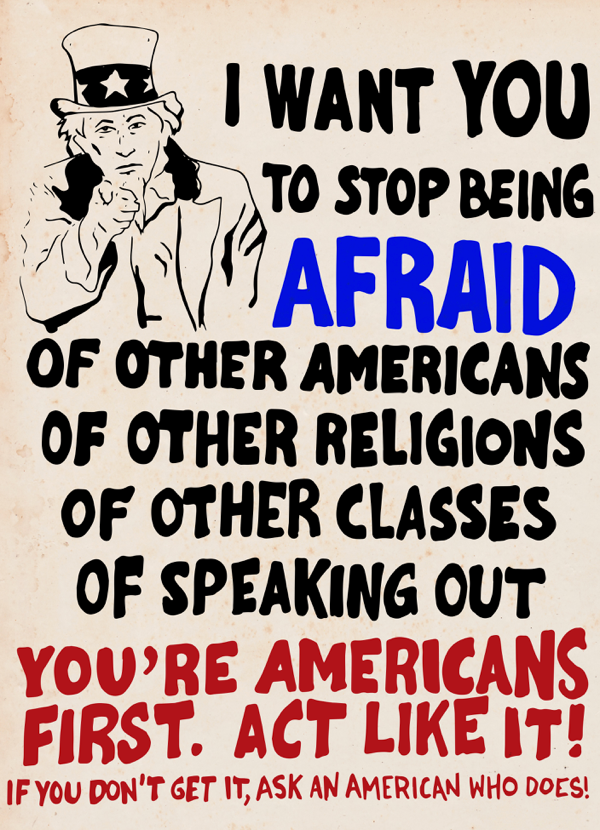 I Want You To Stop Being Afraid
