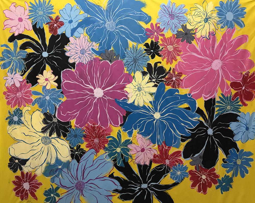 The Agony of Flowers, 10'x7', Acrylic on Canvas