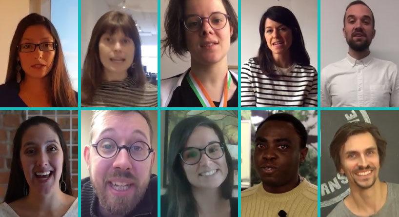 Voici les représentant.e.s des 10 projets finalistes retenus par le jury du concours Mouvement 2018
