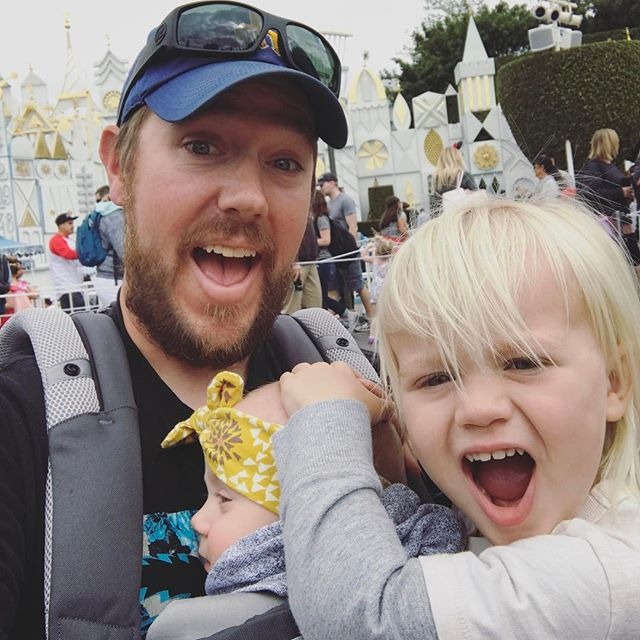 "Took our two year old and six month old to Disneyland today...by myself...""that's a bold strategy Cotton, let's see if it pays off""...went on small world and got the eff outta there"