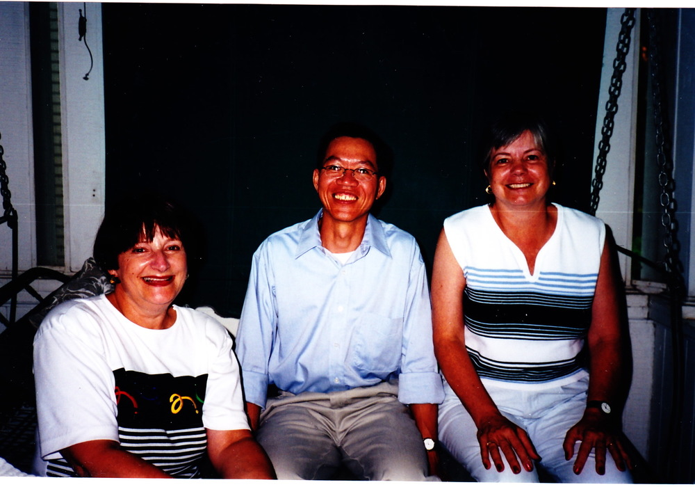 Linda, Tuan, and Joanne in 2000.