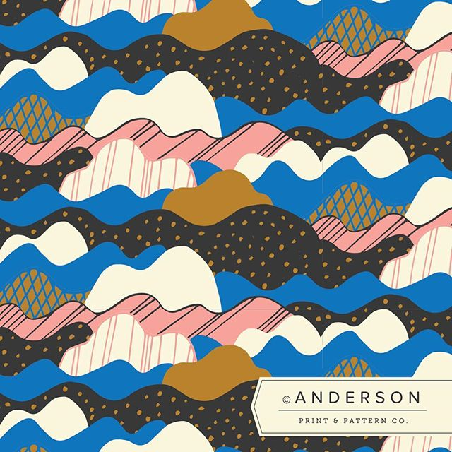 "I love the idea of a daily creative challenge, so I'm jumping into @aisforanika #patternjanuary challenge! Hoping this will spark some new ideas and keep the creative juices flowing to start the year. 😊  Day 9: Starts with ""W"". #andersonprintandpattern #patternjanuary #letsmakepatterns #patterndesign #textiledesign #surfacedesign #surfacepattern #patternplay #patternseverywhere #waves #wavepattern"