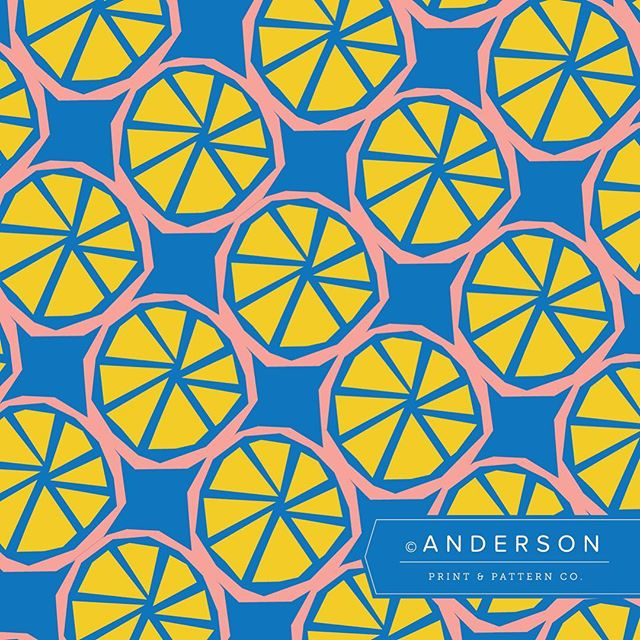 I'm a sucker for a good fruit pattern. 🍏🍎🍐🍊🍋🍌🍉🍇🍓🥝🍍 Day 12: Fruit or veggie  #andersonprintandpattern #patternjanuary #letsmakepatterns #patterndesign #textiledesign #surfacedesign #surfacepattern #patternplay #patternseverywhere #citrus #fruit #fruitpattern