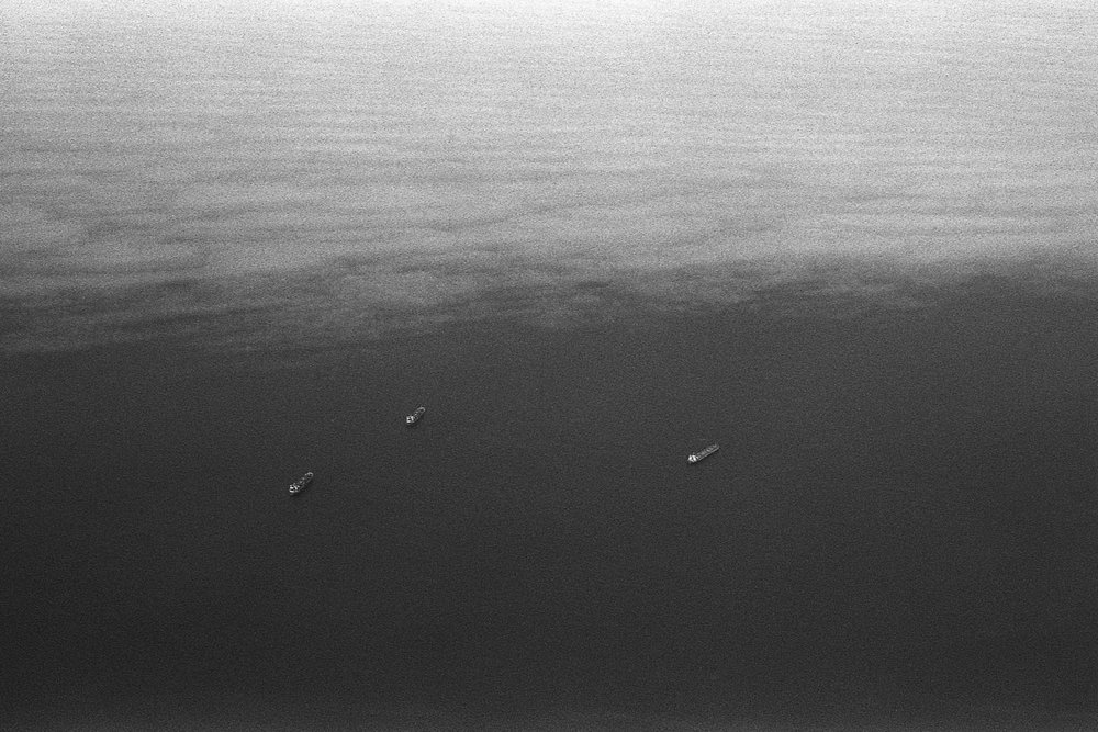 Three Boats On The Atlantic.   Atlantic, 2016.