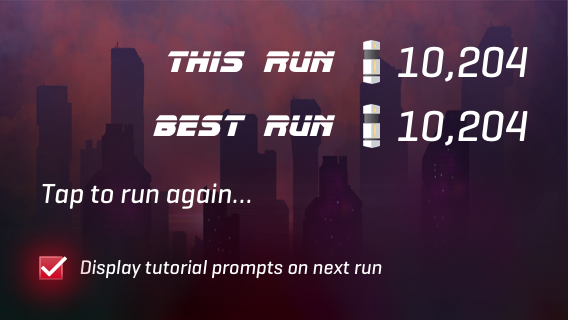 Check box enables the tutorial prompts again next run