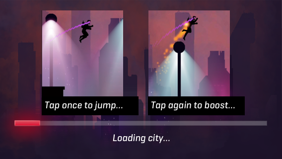 3 second artificial loading screen before the level started