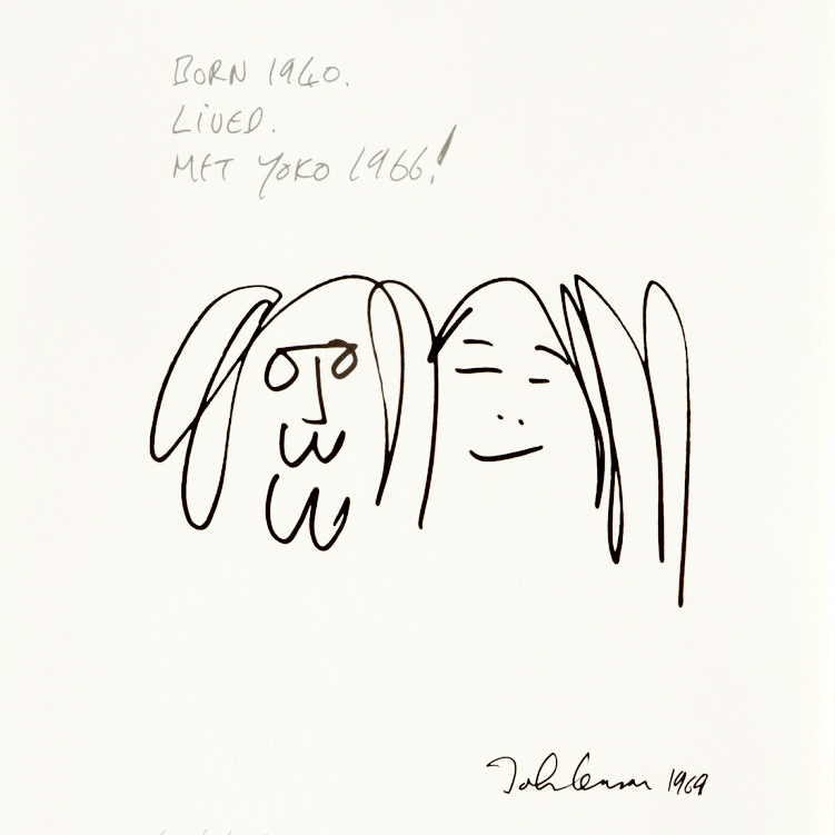 JOHN LENNON  Forever Love, 1969 Ink on paper