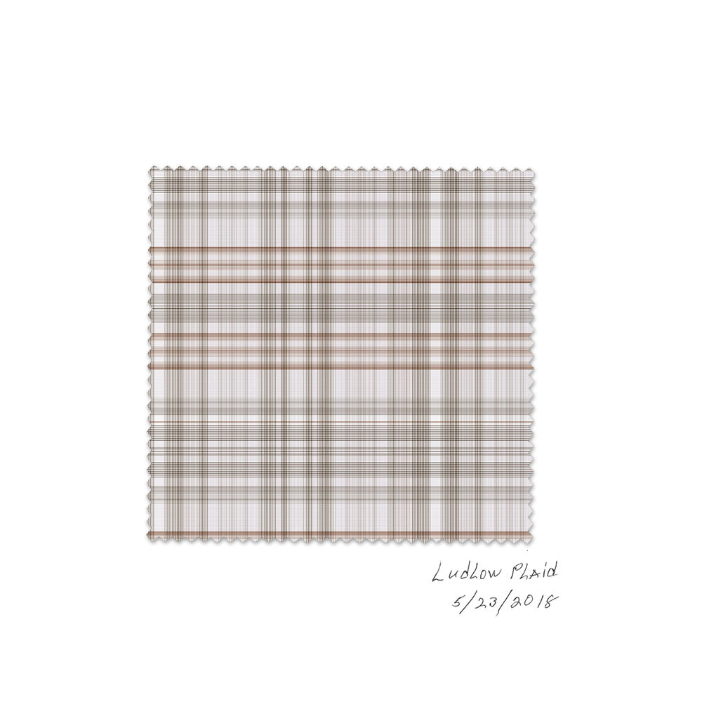 OH BOY ARTIFACTS  Ludlow plaid,, 2018 Ink on paper Adobe Illustrator Oh Boy Artifacts 2018 collection