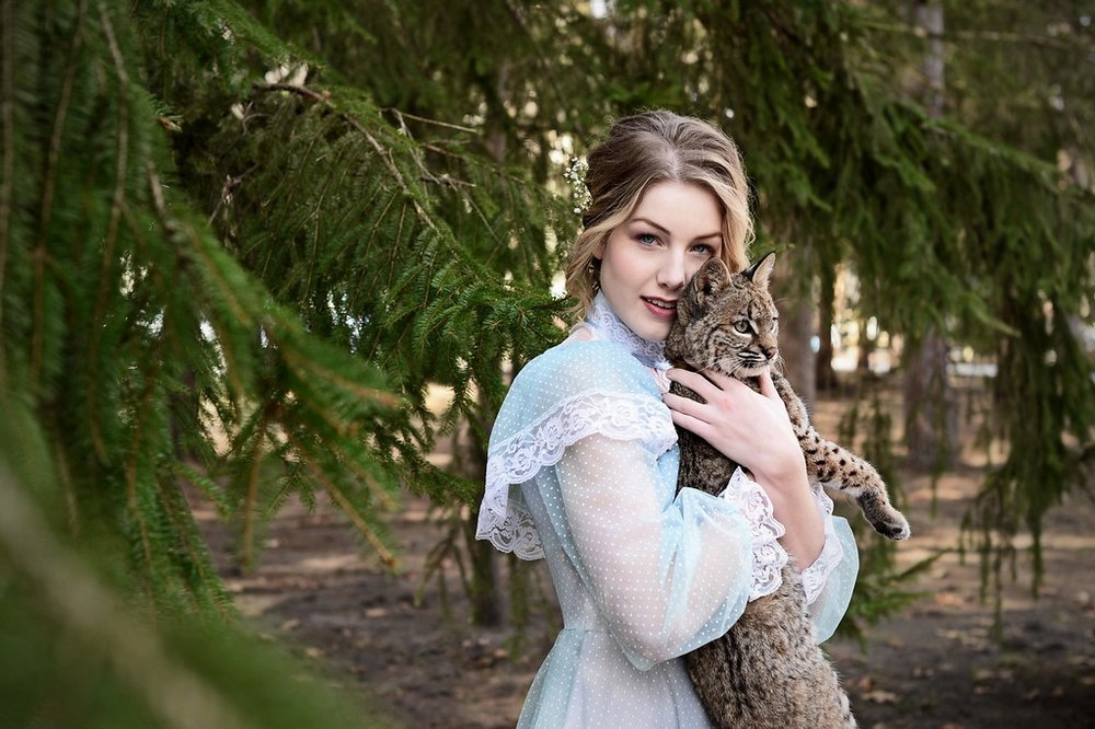Jennifer Ilene with Ashley Hansen and Bonkers. Nature Beauty Photo Shoot in Temperance, MI. Michigan Makeup Artist Amy Lewis.jpg