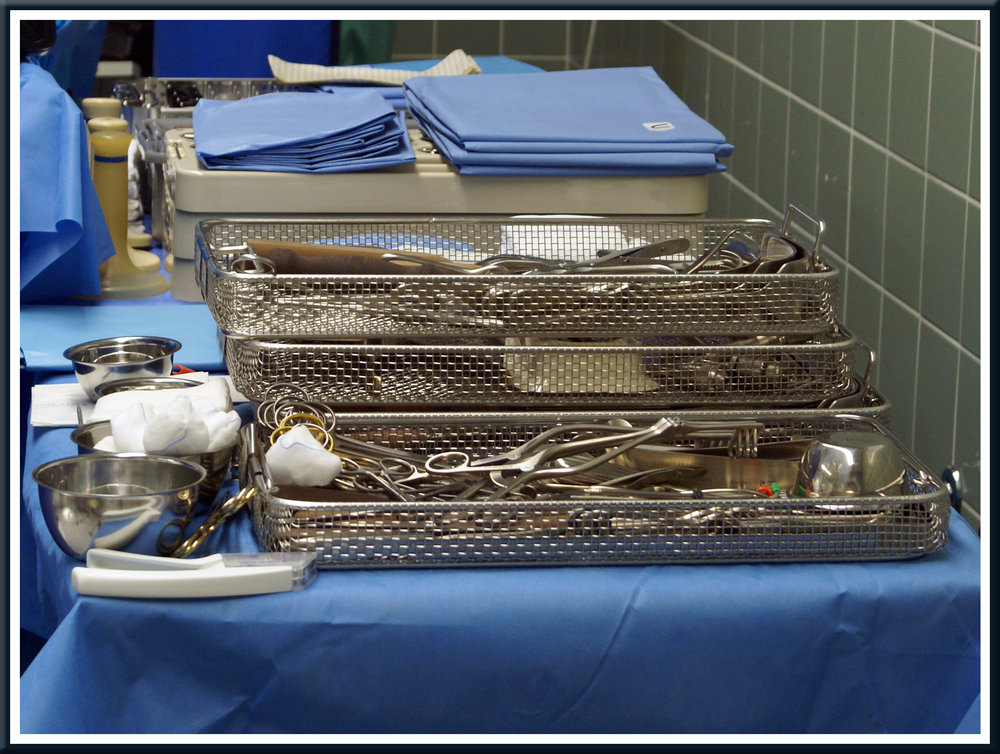 Electropolishing is ideal for medical trays and components like these